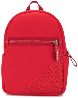 Dolce & Gabbana Kids Rubberised Logo Backpack