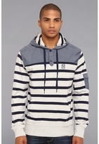 Ecko Unlimited Concordia Striped Hoodie (Grey Heather) - Apparel
