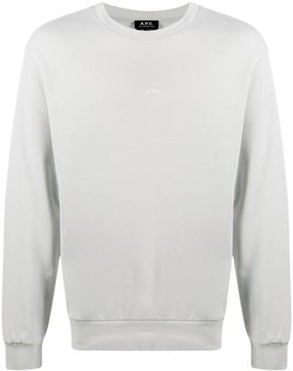 A.P.C. Logo Print Cotton Sweatshirt