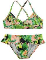 Molo Norma Cross-Back Toucan Bikini, Green, Size 2T-14