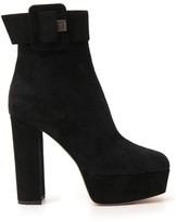 Sergio Rossi Buckled Platform Ankle Boots