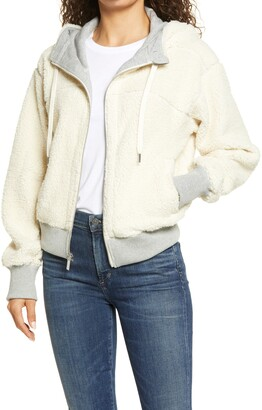 Andrew Marc Reversible Faux Shearling Women's Hoodie
