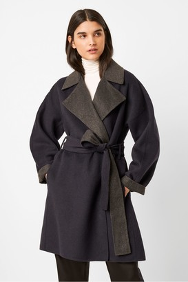 French Connection Enitain Felt Belted Coat