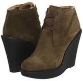 Burberry Shearling Lined Suede Boots (Dark Bracken) - Footwear