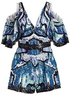 ZUHAIR MURAD Women's Wings Sequin Embroidered Romper
