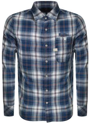 G Star Raw Bristum Slim Check Shirt Blue