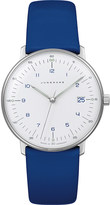 Junghans Max Bill leather and stainless steel watch