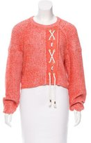 Tibi Oversize Lace-Up Sweater w/ Tags