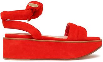 Nicholas Kirkwood Knotted Suede Platform Sandals