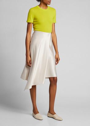Alice + Olivia Jayla Front-Drape Slit Skirt