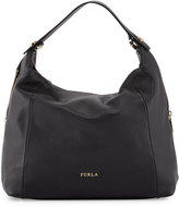 Furla Simplicity Leather Hobo Bag, Onyx