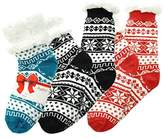 Angelina Women's Sherpa-Lined Thermal Christmas Socks with Gift Tags