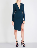 Alexandre Vauthier Wrap stretch-crepe mini dress