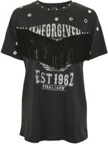 Topshop Unforgiven Studded Motif T-Shirt