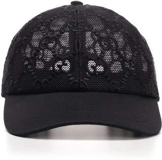 Gucci GG Mesh Embroidered Baseball Cap