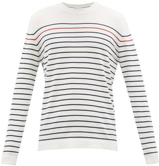 Brunello Cucinelli Striped Long-sleeved Cotton T-shirt - White Multi
