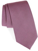 David Donahue Men's Grid Silk & Cotton Tie