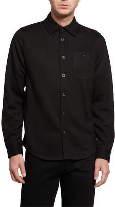 Karl Lagerfeld Paris Men's Knit Shirt Jacket