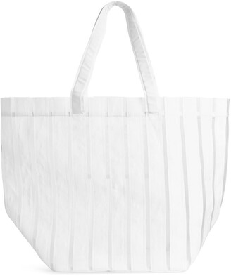 Arket Striped Nylon Tote