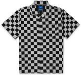 Beams Camp-Collar Checkerboard Lyocell-Blend Jacquard Shirt