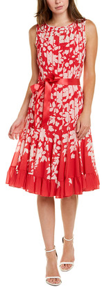 Teri Jon By Rickie Freeman Textured Seam Shift Dress