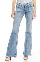 James Jeans Bella Frayed Hem Flare Leg Jeans