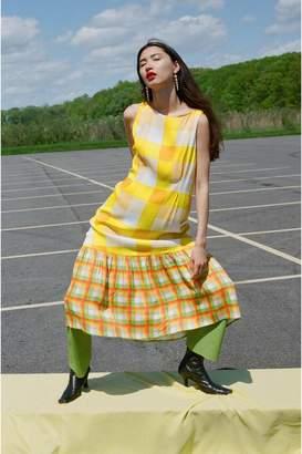 Veda Queen Dress Marigold Plaid