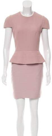 Alexander McQueen Peplum Sheath Dress w/ Tags