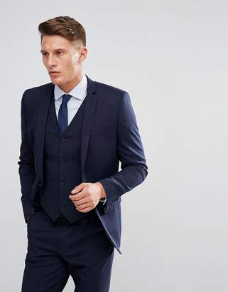 Design DESIGN slim suit jacket in navy