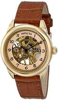 "Invicta Women's 17199SYB ""Specialty"" Stainless Steel Mechanical Hand-Wind Watch With Brown Leather Band"