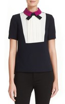 Ted Baker 'Lucaya' Pleat Front Bow Neck Top