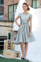 Shabby Apple West End Fit & Flare Dress - Champagne Silver