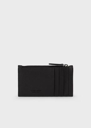 Giorgio Armani Full-Grain Leather Card Holder With Zip