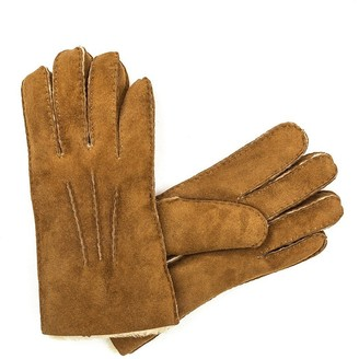 UGG Womens Sheepskin Gloves Chesnut Size XL