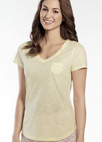 Jockey Womens Tropical Chevron V Neck Tee