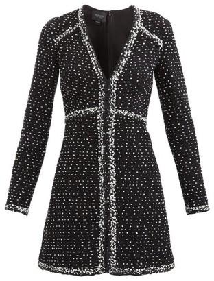 Giambattista Valli Flared Wool-blend Boucle Mini Dress - Black Multi