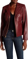 Cole Haan Faux Leather Seamed Jacket