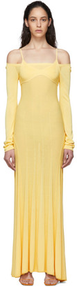 Jacquemus Yellow La Robe Maille Valensole Dress