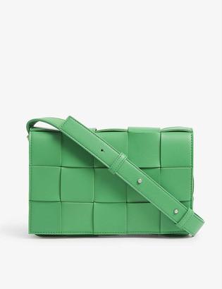 Bottega Veneta Cassette Intrecciato padded leather small cross-body bag