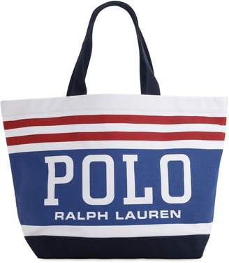 Polo Ralph Lauren Logo Cotton Tote Bag