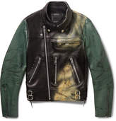 99%Is Spray-Painted Leather Biker Jacket