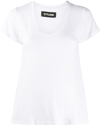 Styland V-neck relaxed-fit T-shirt