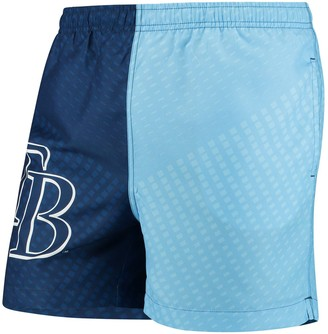 Men's Navy/Light Blue Tampa Bay Rays Color Block Swim Trunks