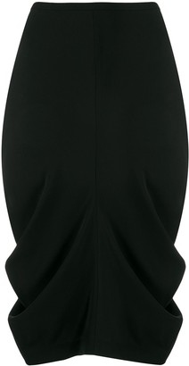 Totême Ruched Pencil Skirt