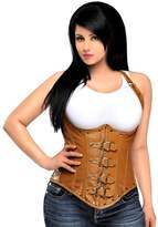 DaisyCorsets Daisy Corsets Women's Top Drawer Steel Boned Distressed Underbust Corset Top