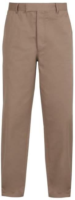Prada Cotton Twill Trousers - Mens - Beige