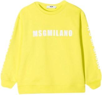 MSGM Yellow Teen Sweatshirt