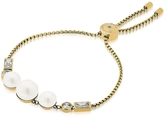 Michael Kors Brilliance Goldtone Bracelet w/Crystals and White Pearls