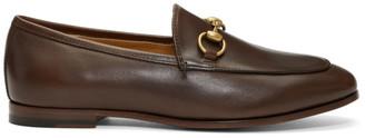 Gucci Brown Jordaan Loafers