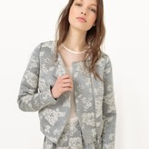 MADEMOISELLE R Zip-Up Jacquard Special Occasion Jacket